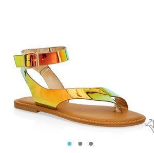 Shoes - NIB Hologram sandals